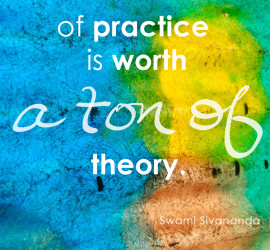 An ounce of practice is worth a ton of theory.
