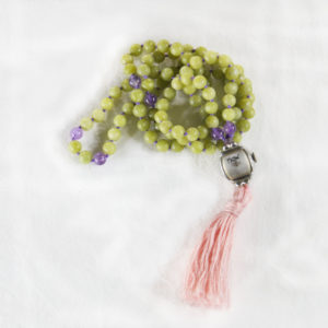 There's No Place Like Now Serpentine & Amethyst Mala