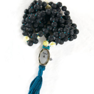 Lava Rock & Serpentine Mala