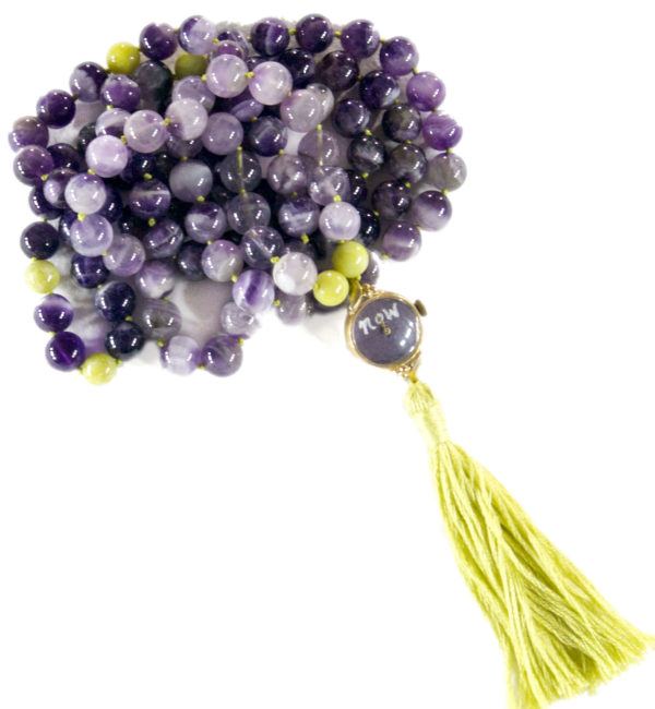 Amethyst and Serpentine Mala