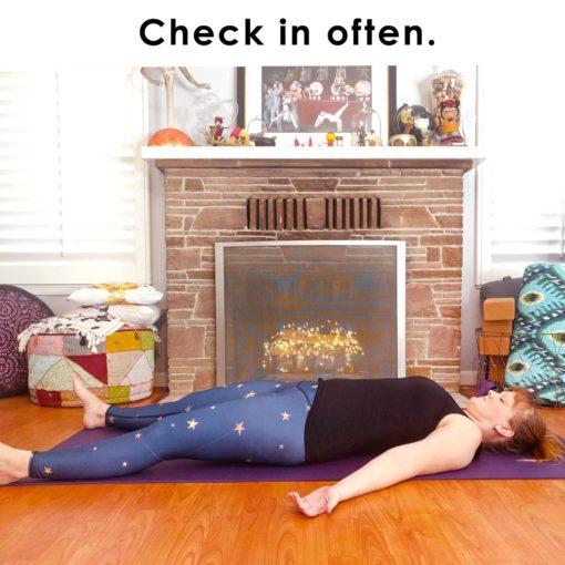 Check in often.